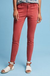 Anthropologie Slim Utility Cargo Pants Red