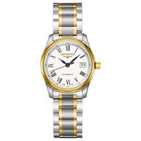 Longines L22575117 Women's Master Collection Automatic Date Bracelet Strap Watch Silver Gold