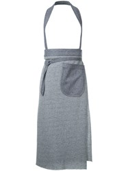 Osakentaro Halterneck Skirt Women Wool M Grey