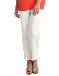 Eileen Fisher Side Zip Cropped Pants White
