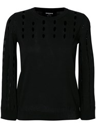 Rochas Perforated Jumper Black