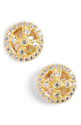Women's Freida Rothman 'Metropolitan' Small Stud Earrings Gold Clear