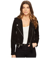 Blank Nyc Black Suede Moto Jacket In Seal The Deal Seal The Deal Women's Coat