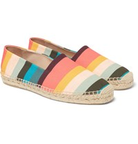 Paul Smith Sunny Striped Canvas Espadrilles Pink