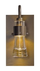 Hubbardton Forge Erlenmeyer Ada Wall Sconce Bronze Clear Glass Brown