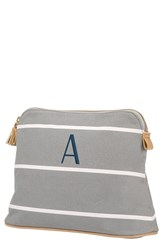 Cathy's Concepts Monogram Cosmetics Bag Grey A
