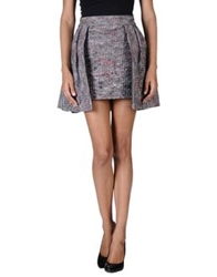 Andrea Crews Mini Skirts Grey