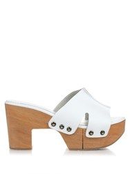 Robert Clergerie Cetri Leather Clogs White