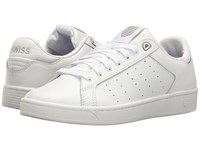 K Swiss Clean Court Cmf White Gull Gray Women's Tennis Shoes