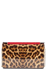 Christian Louboutin 'Vanite' Leopard Print Leather Clutch