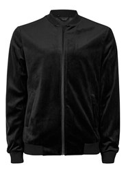 Topman Black Velvet Smart Bomber Jacket