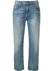 Current Elliott Superloved Straight Jeans Blue