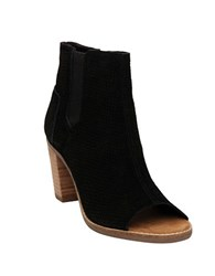 Toms One For One Majorca Suede Open Toe Booties