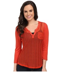 Ariat Cheryl Top Volcanic Fire Women's Long Sleeve Pullover Red