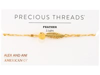 Alex And Ani Precious Threads Feather Daybreak Braid Bracelet 14Kt Gold Plate Bracelet