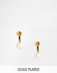 Stella And Bow Charlotte Pearl Throu And Throu Earrings Goldpearl