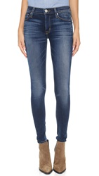 Hudson Nico Mid Rise Skinny Jeans Blue Gold