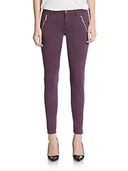 Joe's Jeans Skinny Zipper Pocket Jeans Plum