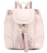 See By Chloe Polly Leather Backpack Beige