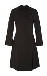 Tomas Maier Long Sleeve Button Up Dress Black
