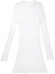 Sacai String Longline Top Men Cotton 2 White