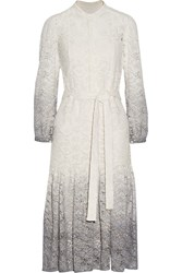 Burberry Degrade Stretch Lace Dress White
