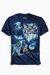 Urban Outfitters Tie Dye Wolf Tee Assorted