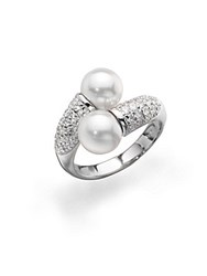Majorica 8Mm Round White Pearl Sterling Silver Ring Pearl Silver