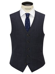 Chester Barrie By Pindot Wool Tailored Waistcoat Airforce