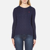 Polo Ralph Lauren Women's Julianna Crew Neck Jumper Hunter Navy