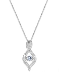 Macy's Twinkling Diamond Star Diamond Infinity Pendant Necklace In 10K White Gold 3 8 Ct. T.W.