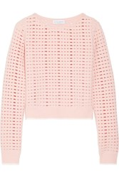 Narciso Rodriguez Cutout Wool And Cashmere Blend Sweater Blush