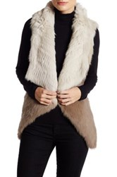 Mitchies Ombre Genuine Rabbit Fur Vest Multi