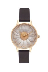 Olivia Burton Flower Show Moulded Daisy Watch By Black