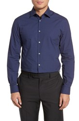 John Varvatos Star Usa Slim Fit Diamond Dress Shirt Sapphire