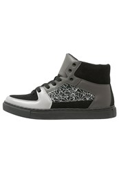 Your Turn Hightop Trainers Grey Black White