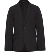 Rag And Bone Black Philips Slim Fit Striped Cotton Blend Blazer Black