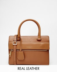 Modalu Mini Leather Tote Bag Carameltan