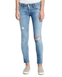 Hudson Collin Mid Rise Skinny Jeans Indigo
