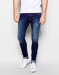 Pull And Bear Pullandbear Dark Wash Super Skinny Fit Jeans Darkblue
