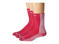 Drymax Sport Cold Weather Run Crew 3 Pair Pack Oct Pink Crew Cut Socks Shoes