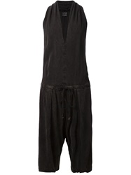 Lost And Found Drop Crotch Playsuit Black