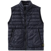 Stone Island Garment Dyed Micro Down Gilet Blue