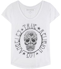 True Religion Printed Cotton Blend T Shirt White