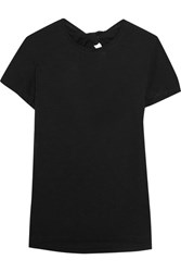 Proenza Schouler Tie Back Cotton Jersey T Shirt Black