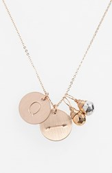 Women's Nashelle Pyrite Initial And Arrow 14K Gold Fill Disc Necklace Gold Pyrite Silver Pyrite Q