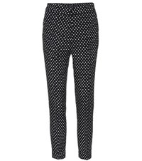 Etro Polka Dotted High Rise Trousers Black