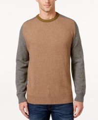 Tricots St Raphael St. Men's Colorblocked Baseball Sweater Camel Hthr