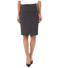 Kensie Heather Stretch Crepe Pencil Skirt Ks2k6226 Heather Dark Grey Women's Skirt Gray