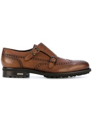 Baldinini Casual Monk Shoes Calf Leather Leather Rubber Brown